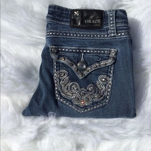 Grace in LA Jeweled Jeans Easy Fit